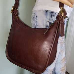 VINTAGE COACH Janice 9950 Brown Leather Cross-Body